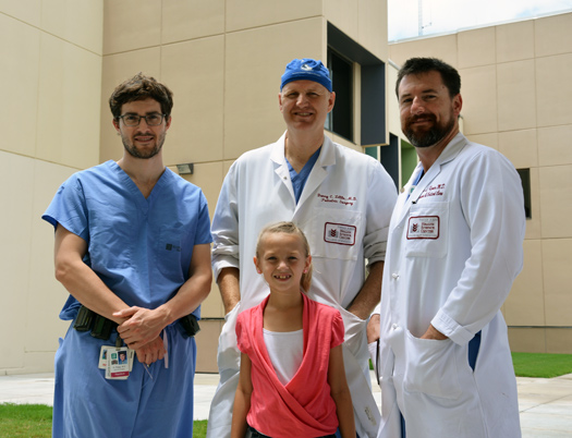 (top) Hayden Stagg, MD; Danny Little, MD; Justin Regner, MD (bottom) Allyssa Odom